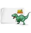 a dinosaur banner template on white background vector image vector image