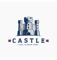 Abstract Castle Label Sign or Logo vector image vector image