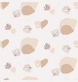 abstract nature shapes seamless pattern vector image vector image