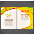 Abstract template design brochureWeb sites vector image vector image