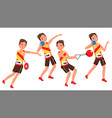 athletics young man player man sportsman vector image vector image