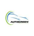 auto green logo design vector image vector image