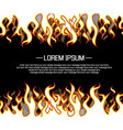background flame style cartoon vector image
