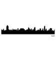 Bangkok skyline vector image vector image