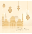 Beautiful ramadan kareem background vector image