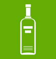 bottle of vodka icon green vector image vector image