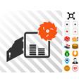 broken bank safe icon with bonus vector image vector image