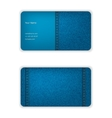Business card from denim blue face and seamy vector image vector image
