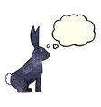 cartoon rabbit with thought bubble vector image vector image