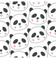 childish seamless pattern with hand drawn pandas vector image vector image