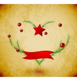 Christmas love heart vector image
