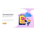cloud management concept vector image vector image
