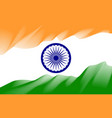 colored line india flag vector image vector image