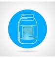Creatine can round icon vector image vector image