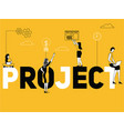 creative word concept project and people doing vector image