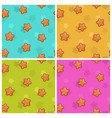 cute colorful seamless pattern set vector image vector image