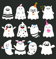 cute ghost character cute ghost character vector image