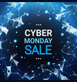 cyber monday sale poster design over blue vector image