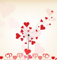 dandelions hearts valentines day background vector image vector image