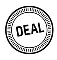 deal stamp on white vector image vector image