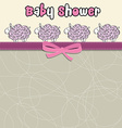 Delicate baby shower card with purple sheep vector image vector image
