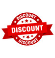 discount ribbon discount round red sign discount vector image vector image