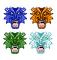 dragons heads vector image