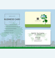 eco city business card or name card template vector image