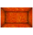 empty futuristic room with red orange walls vector image vector image