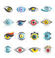 eyes icons templates isolated eye set vector image