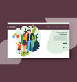 family time landing web page template healthcare vector image