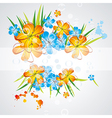 Flower background brochure template vector image vector image