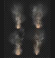 fog and smoke fire isolated on transparent vector image vector image