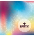 Geometry multicolored background design vector image vector image