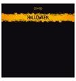 Halloween grunge template vector image vector image