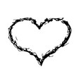 hand drawing of a heart in scribble style vector image vector image