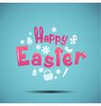 happy easter typography bunny egg vector image