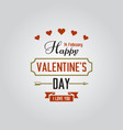 happy valentines day isolated label vector image