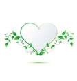 Heart with green leaves vector image vector image