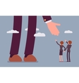 Helping hand for businesmen vector image