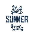 Hot summer time vector image vector image