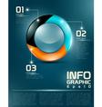 Infographic UI elements vector image