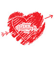isolated textured heart shape valentine day vector image vector image