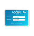 login box vector image vector image