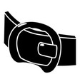 modern belt icon simple style vector image vector image