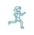 morning running linear icon concept morning vector image