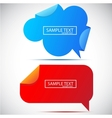 paper bubble for speech vector image vector image