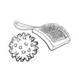 pet cat dog accessories - hair grooming brush vector image vector image