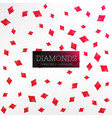 playing card diamond shapes background vector image vector image