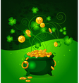 Pot of Gold Coins vector image vector image